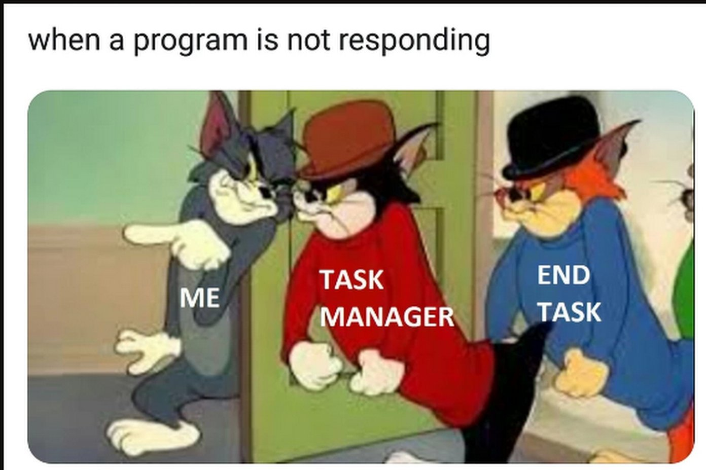 Programs are like Spiderman and must be ended. - meme