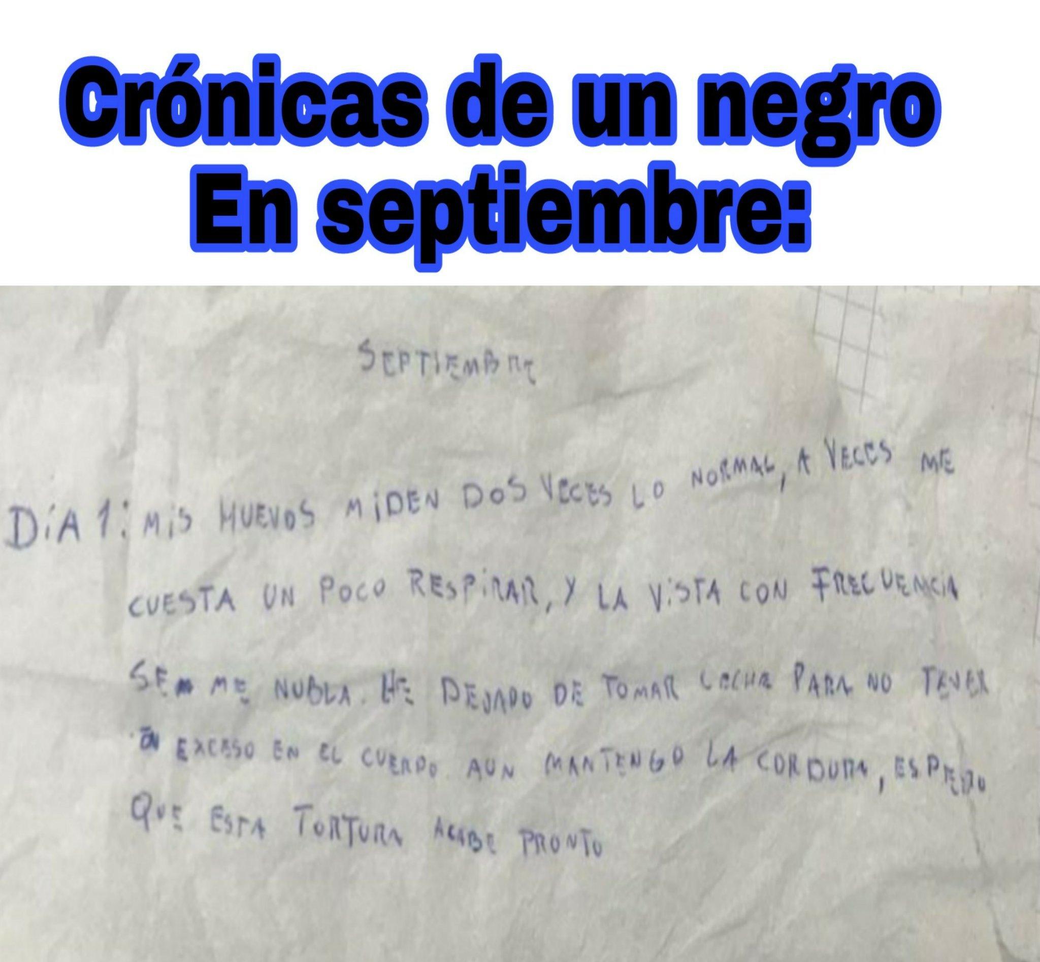 Crónicas negras - meme