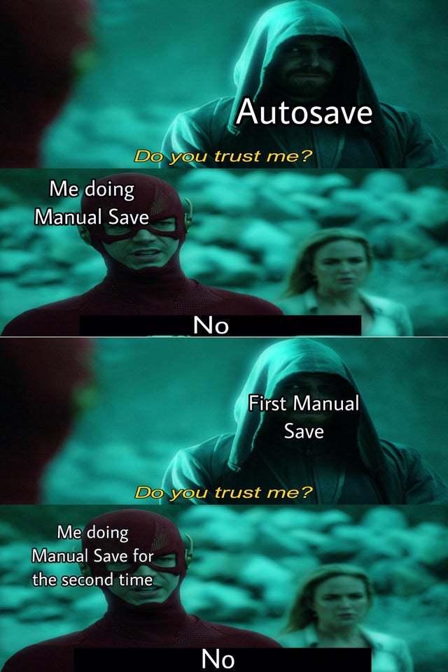 Auto save - meme