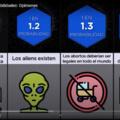 mas piensan que los aliens existen que la educacion?