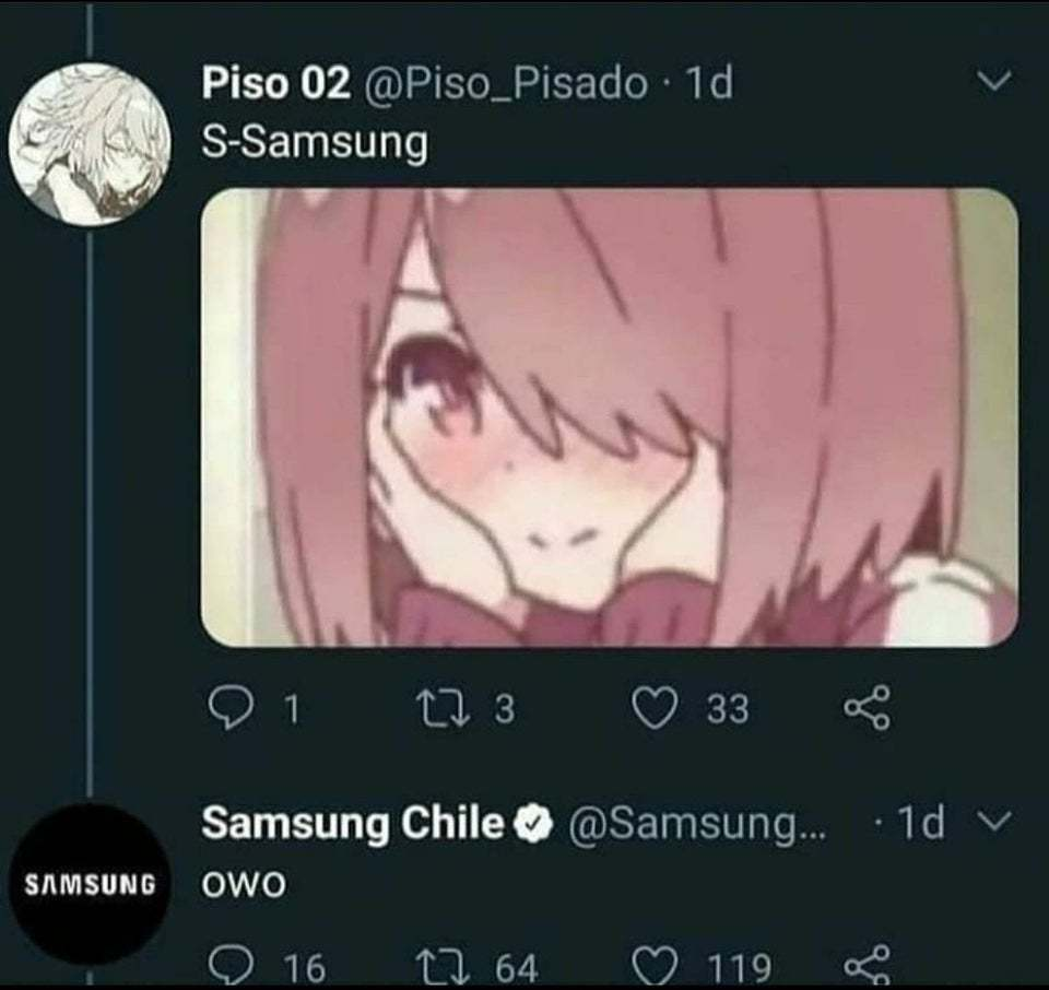 es real  https://twitter.com/SamsungChile/status/1367517592773152769 - meme
