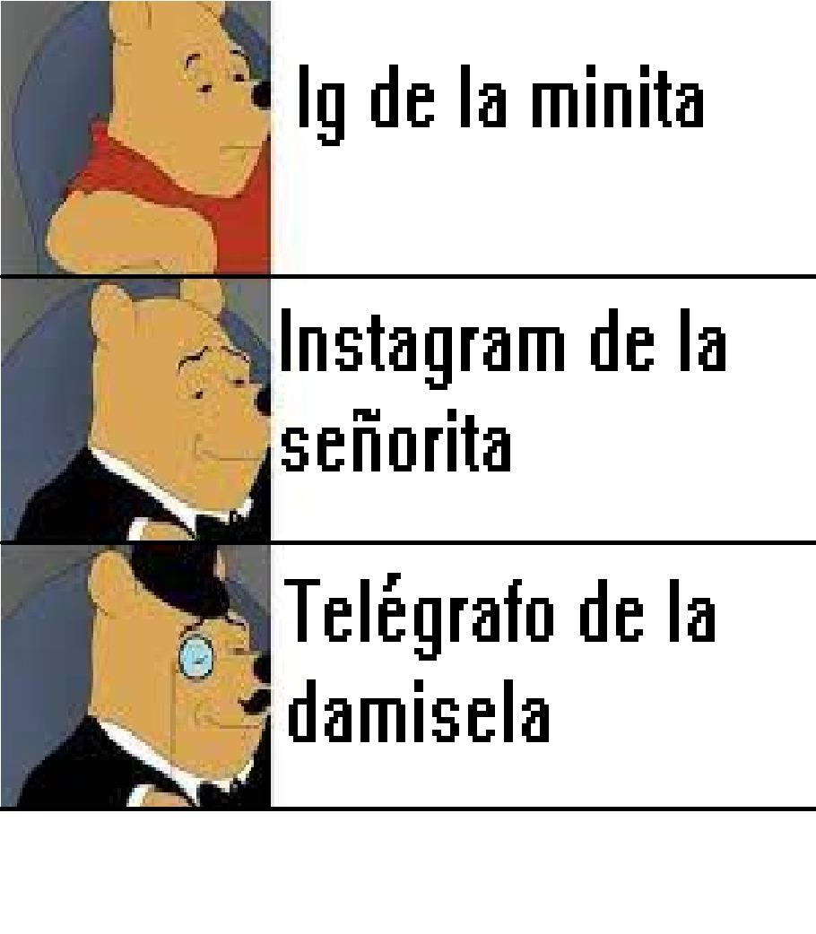Ig de la minita -> Telégrafo de la damisela - meme