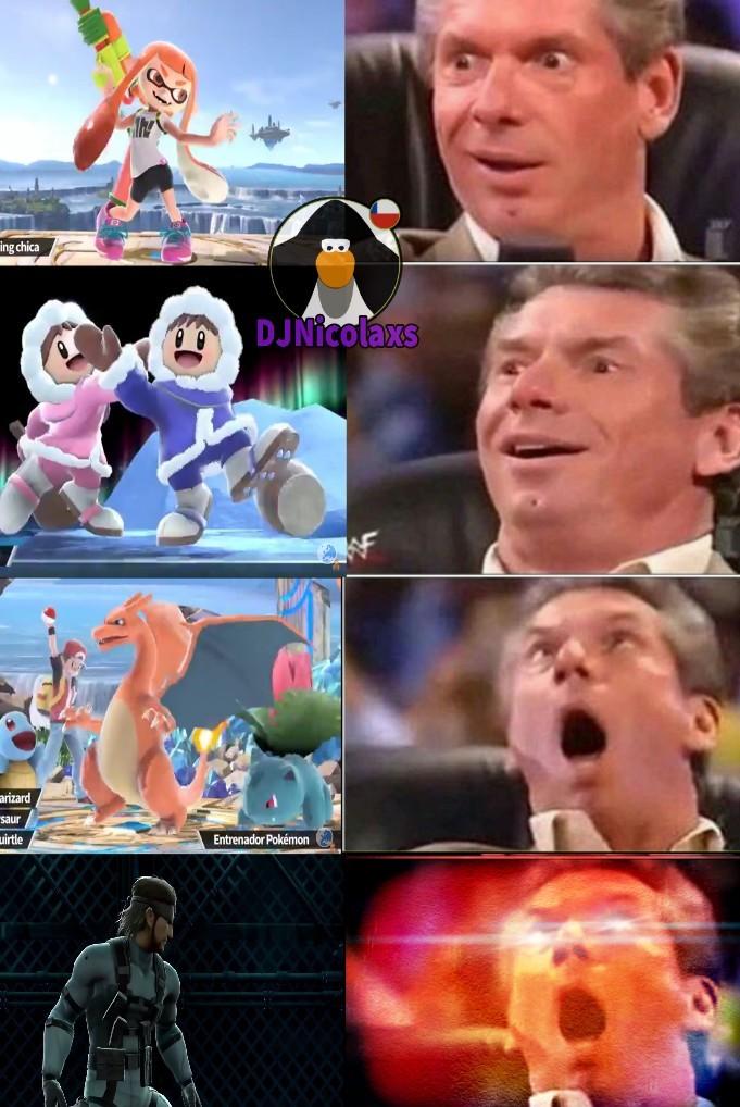 si no me equivoco estaran literalmente TODOS los personajes anteriores en el nuevo smash - meme