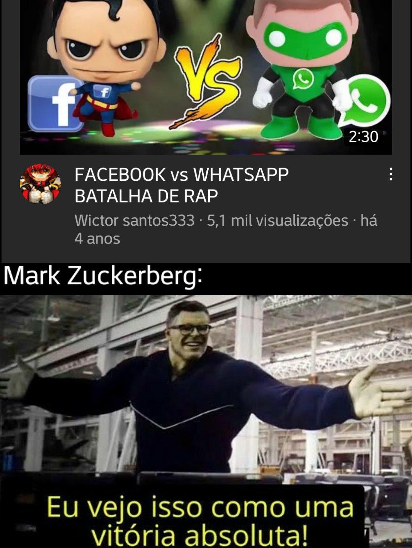 Pq o whatsapp é o lanterna verde? - meme