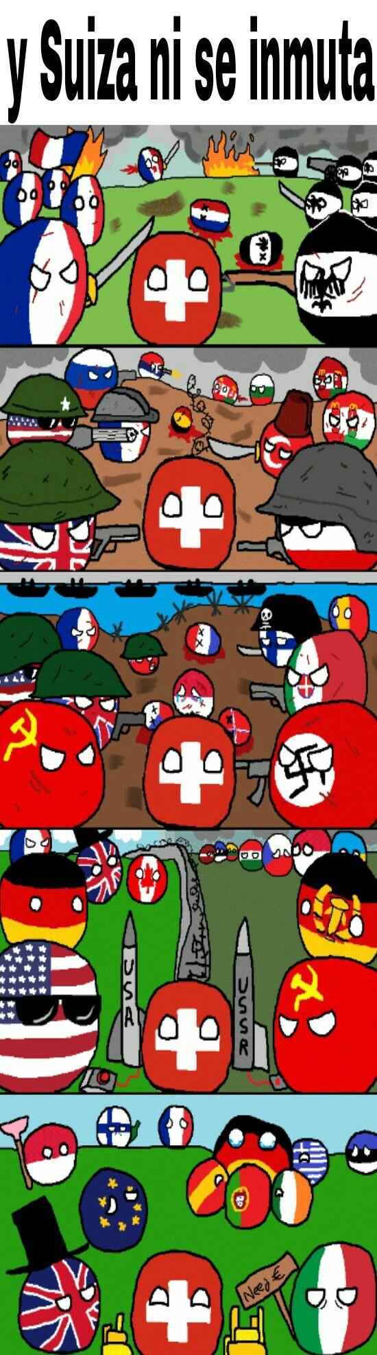 Soy como suiza - meme