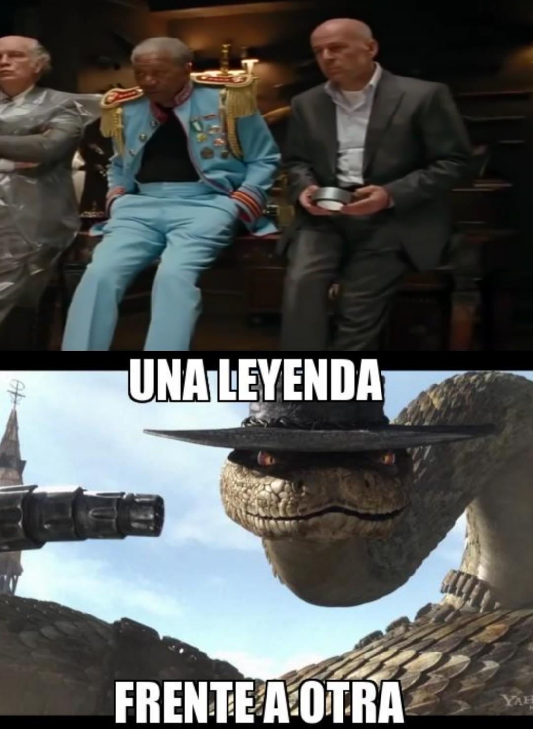(Bruce Willis y Morgan Freeman) - meme