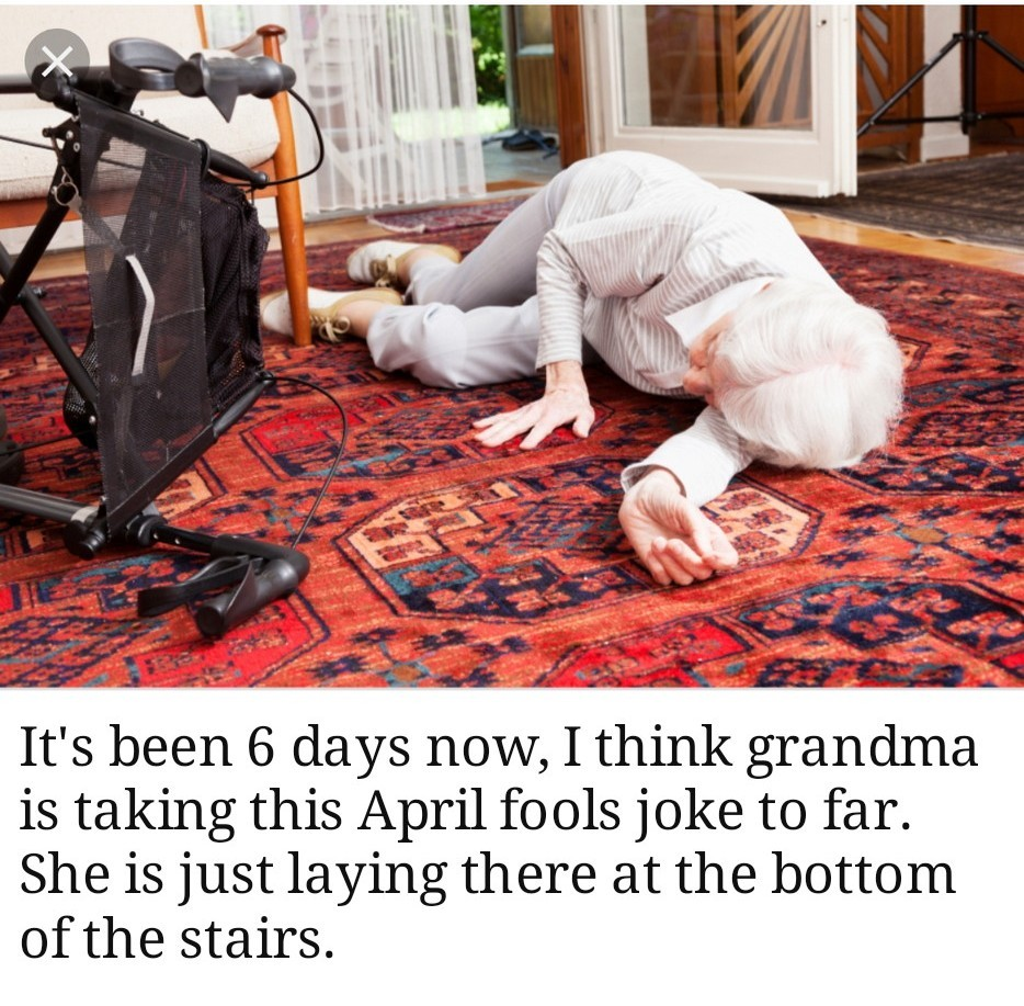 Grandma is a real prankster - meme
