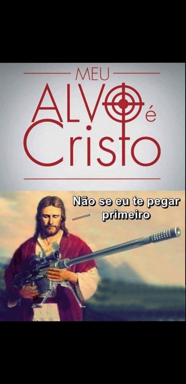 Só Jesus na causa - meme