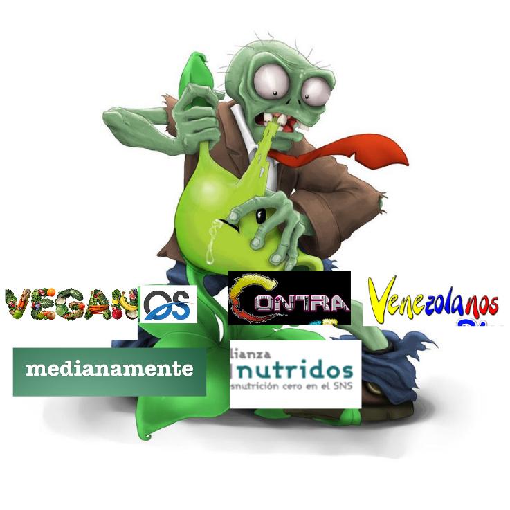 Veganos contra Venezolanos medianamente nutridos (Si es necesario violenlo a negativos) - meme