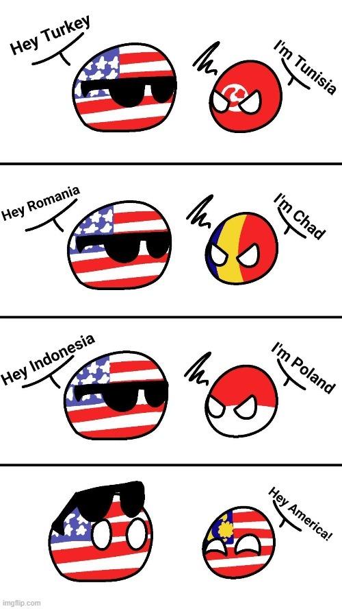 Les états unis et les drapeaux... - meme