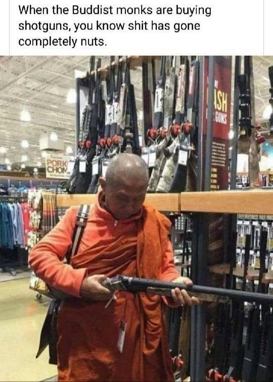 Buy more guns - meme