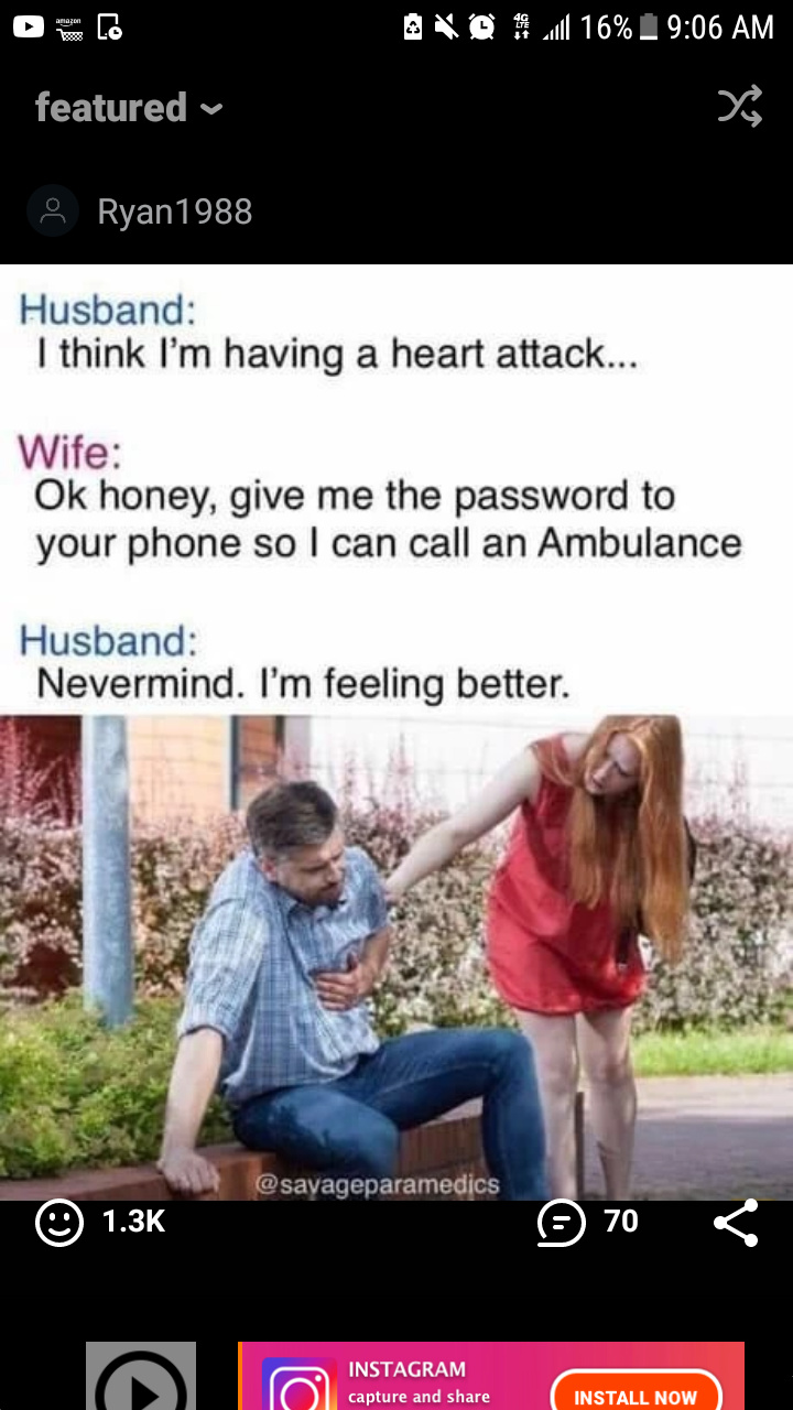 it's funny because he's cheating on her haha - meme