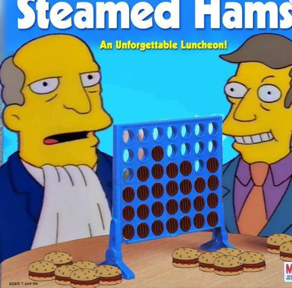 Connect 4 and steamed hams collide! - meme