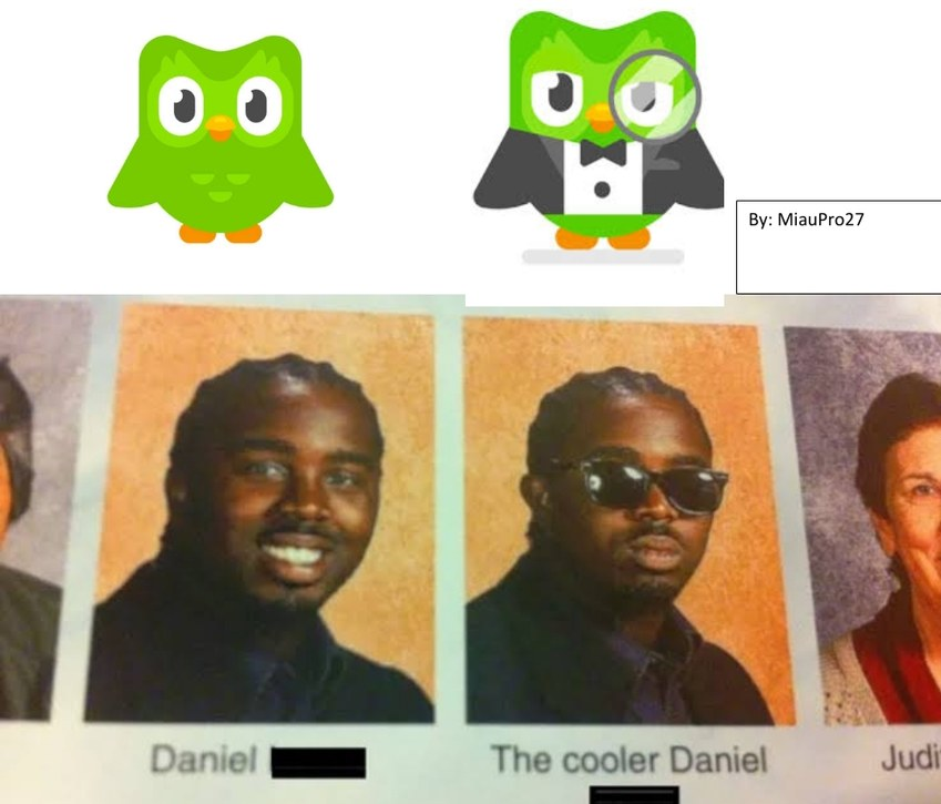 Duolingo, the cooler Duolingo - meme