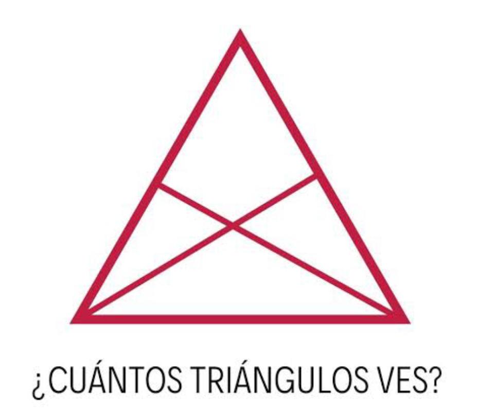 Si adivinan cuantos triángulos hay ahí les doy follow :v, dejen la respuesta en los comentarios - meme