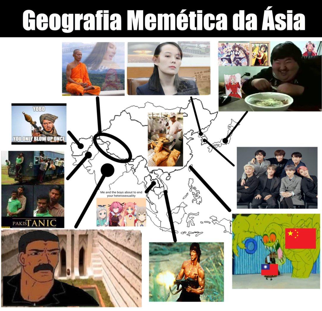Peço perdão pela poluição visual, mas pelo menos poluição visual combina com Ásia - meme