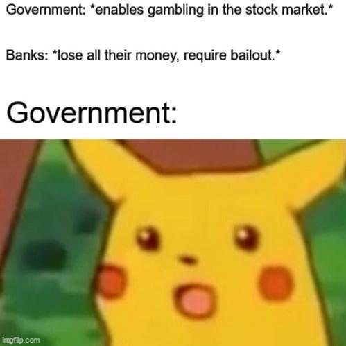 Fuck a bailout - meme