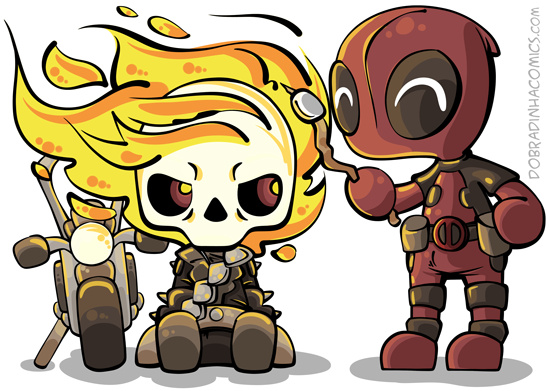 Motoqueiro Fantasma e Deadpool - meme