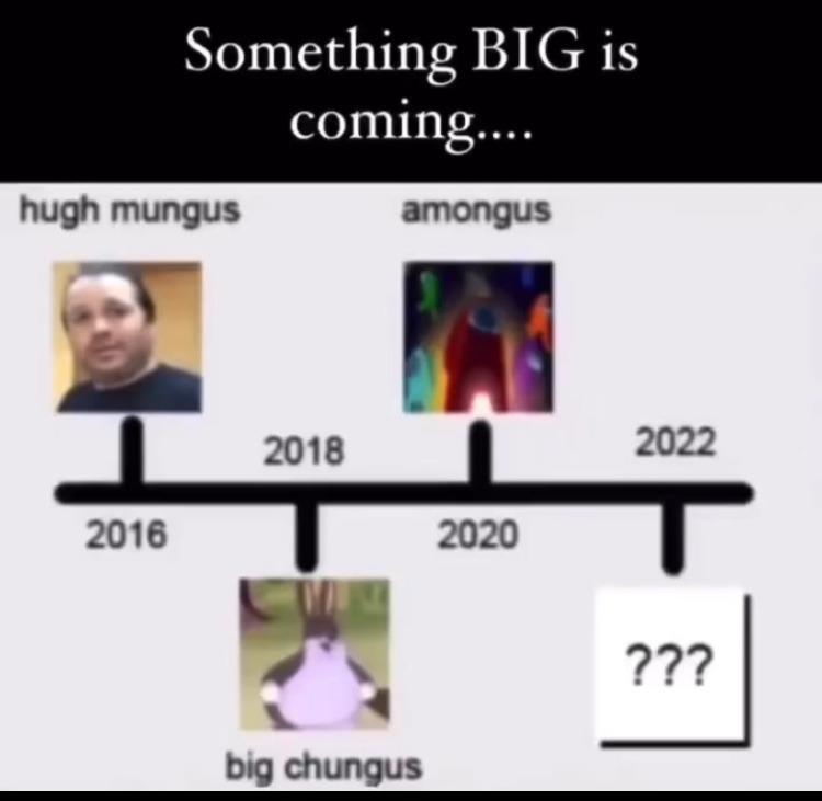 it's hugh mungus - meme
