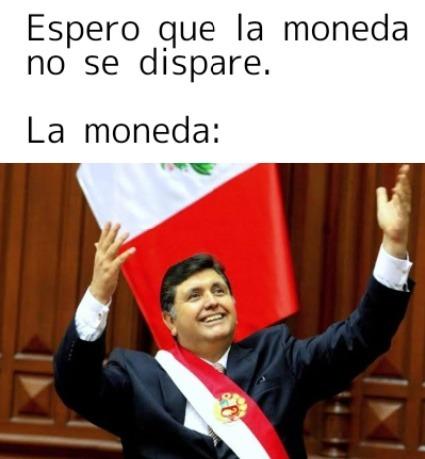 Contexto: ese es Alan Garcia, un expresidente corrupto del Perú que termino disparandose para no pagar sus actos - meme