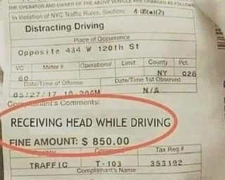 Nothing like road head - meme