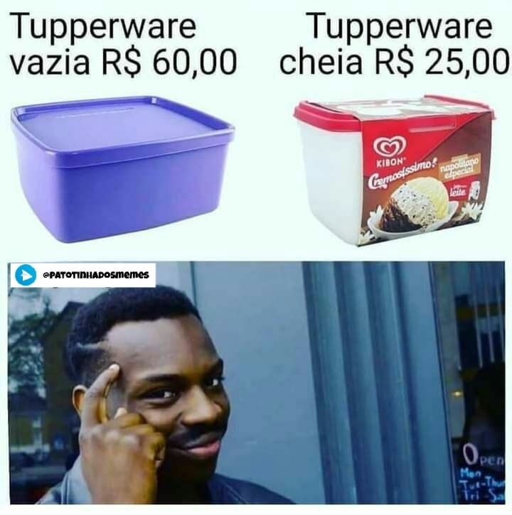 Meme tupperware - patotinhadosmemes