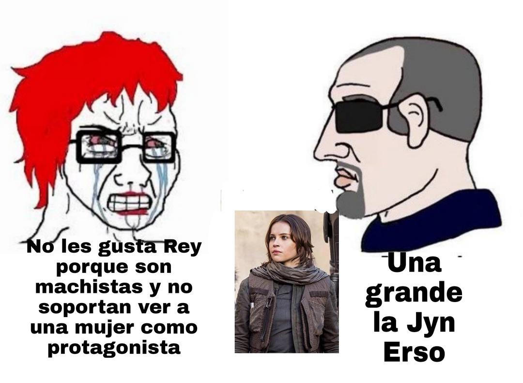 Un meme sobre las películas recientes de star wars