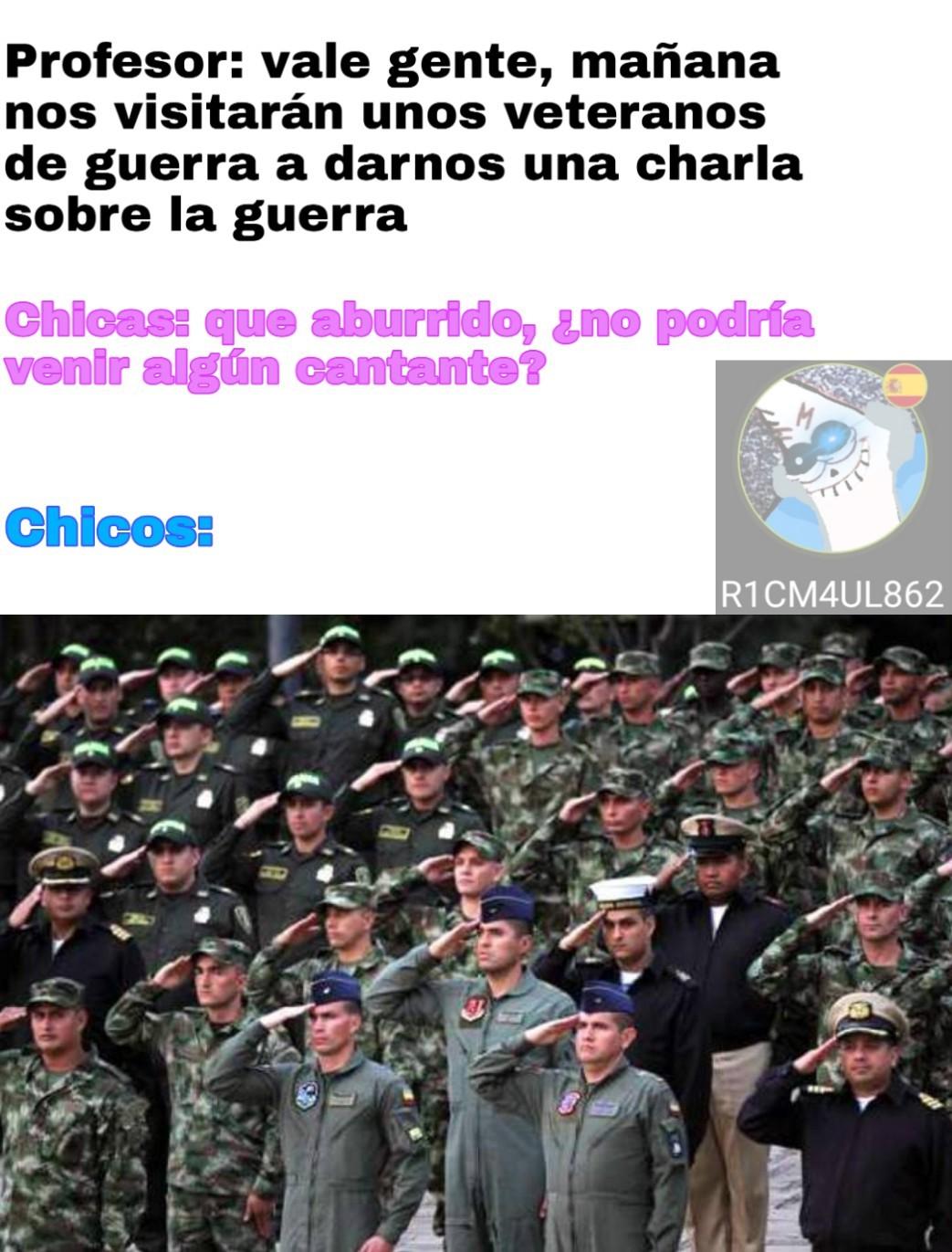 Firmes soldados - meme
