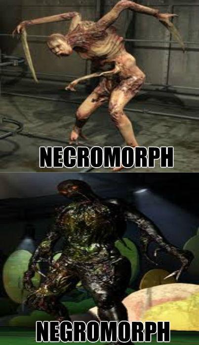 porque en dead space no hay necromorfos con piel negra ??? - meme