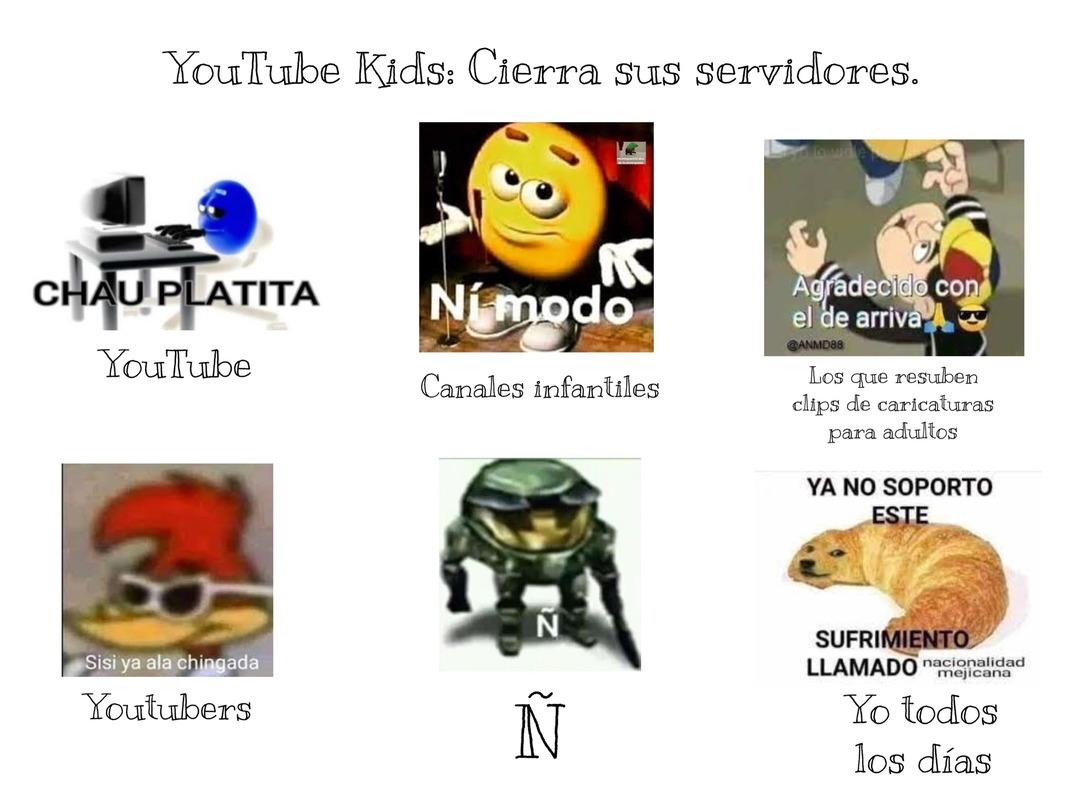 Como quisiera que cerrara YouTube Kids - meme