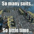 I have 24 suits now...