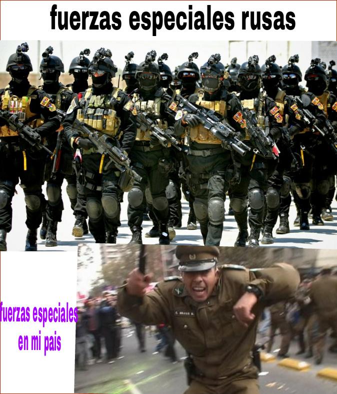 Las fuerzas armadas - meme