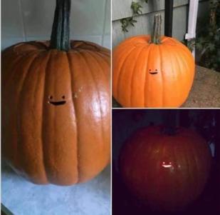 The scariest pumpkin ever. - meme