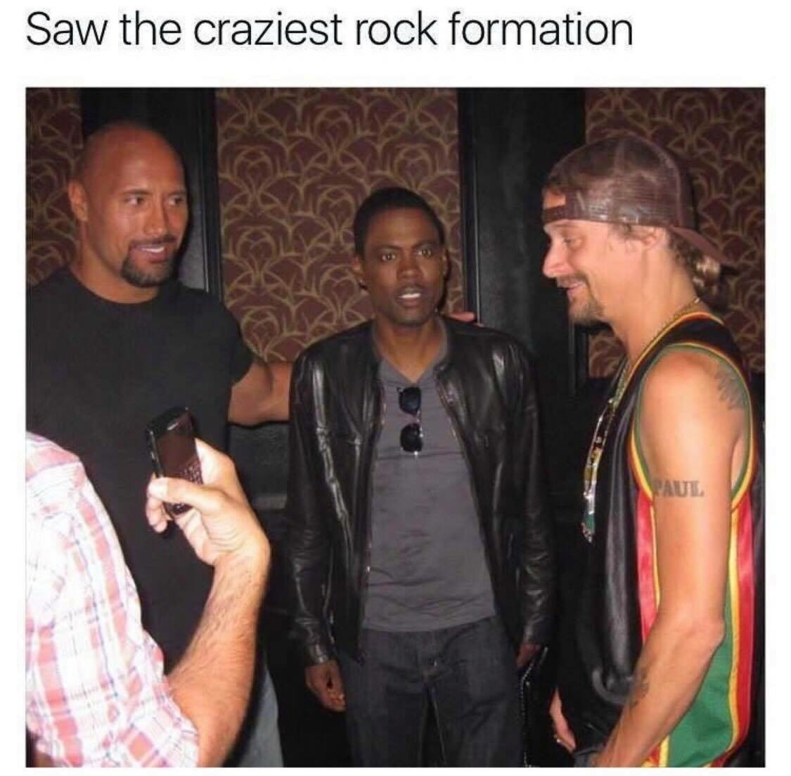 the rocks - meme