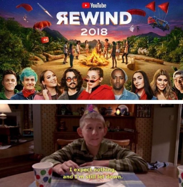 What do you expect from Youtube rewind 2018? - meme