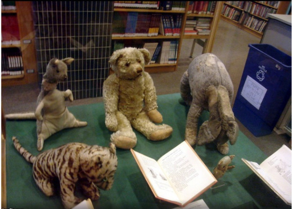 Here's picture of original Winnie The Pooh stuffed toys. Enjoy - meme