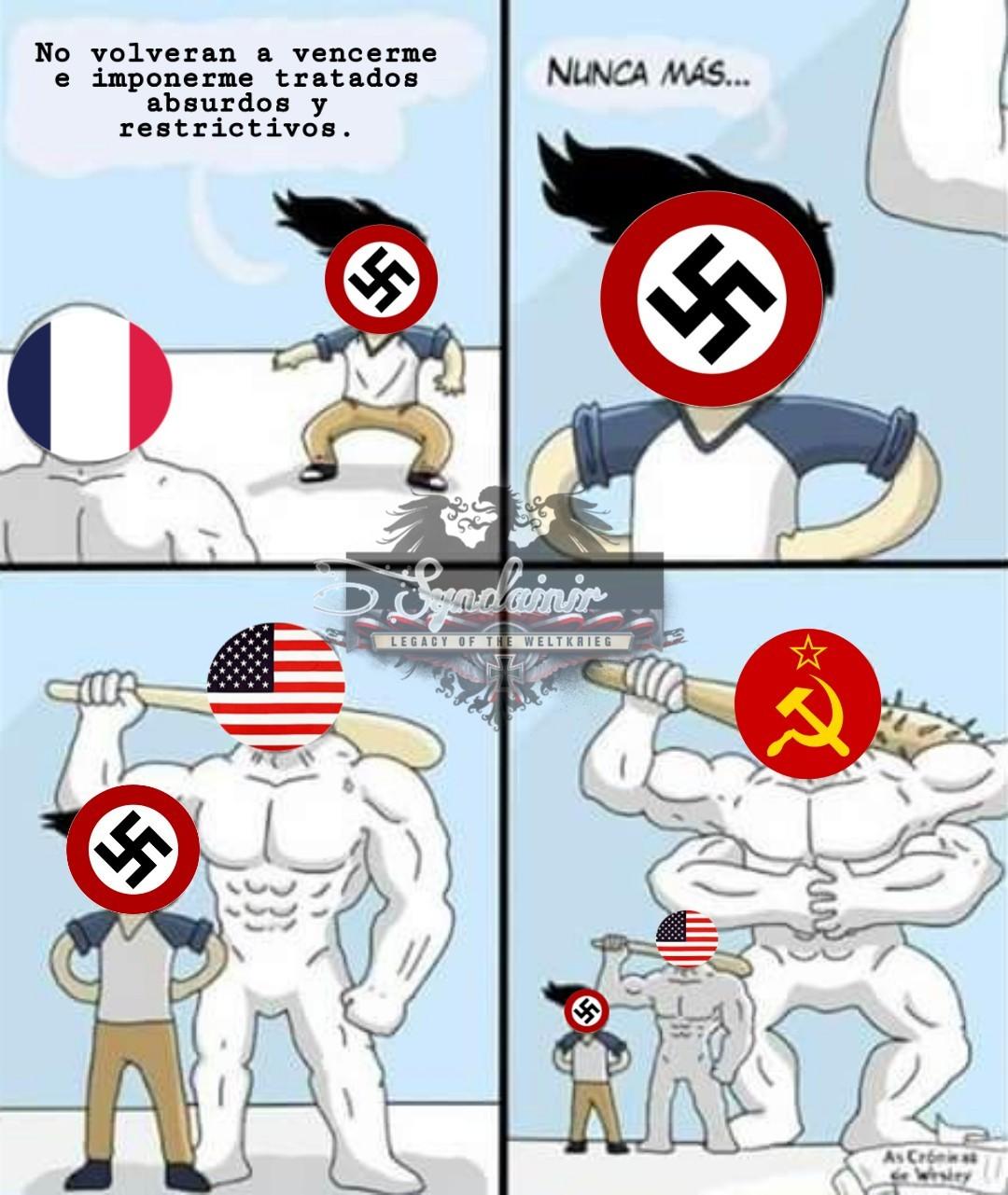 ¿Quien fue más fundamental para la victoria? ¿USA o La URSS? - meme