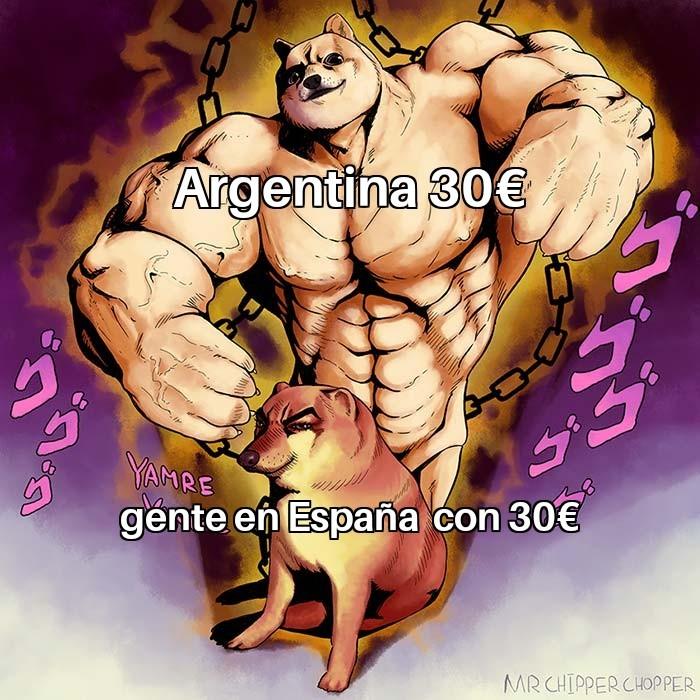 Argentina con 30€ - meme