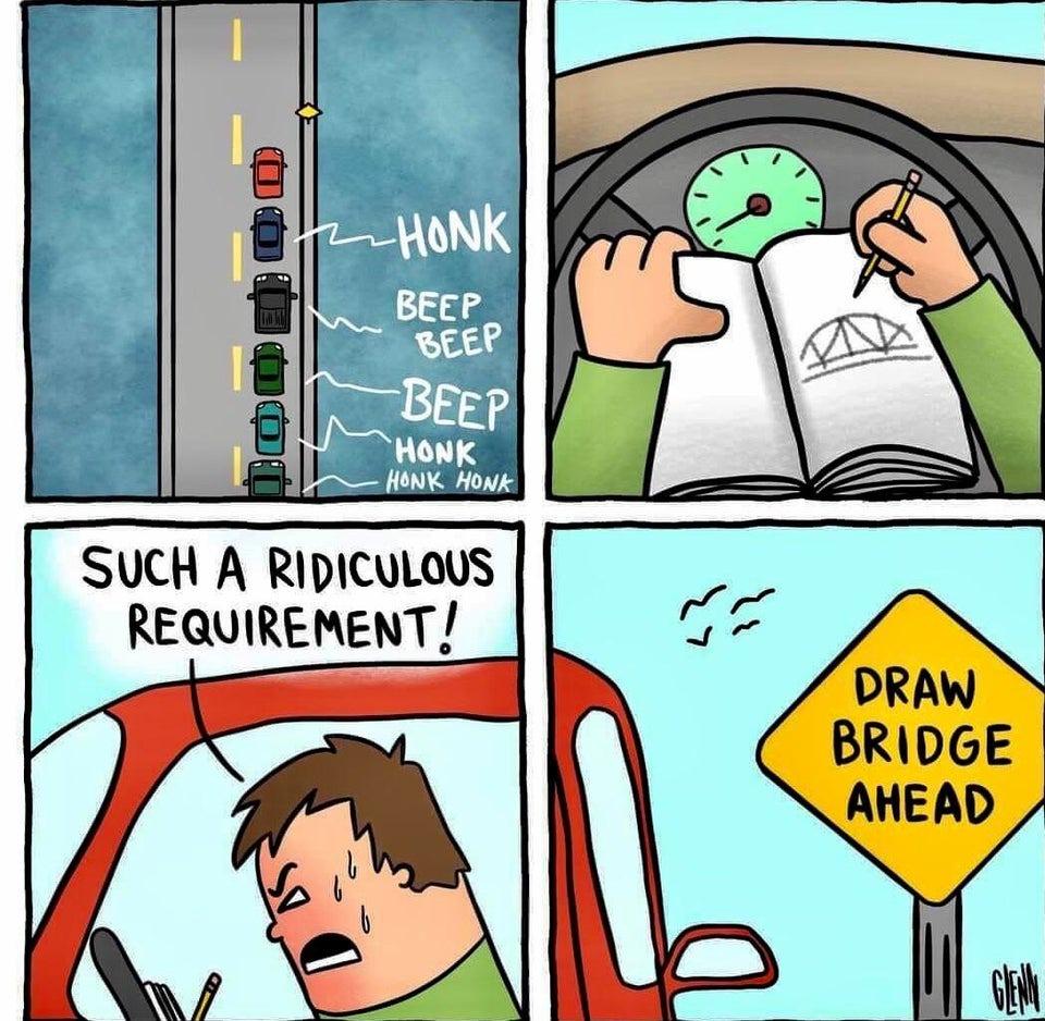 draw bridge - meme