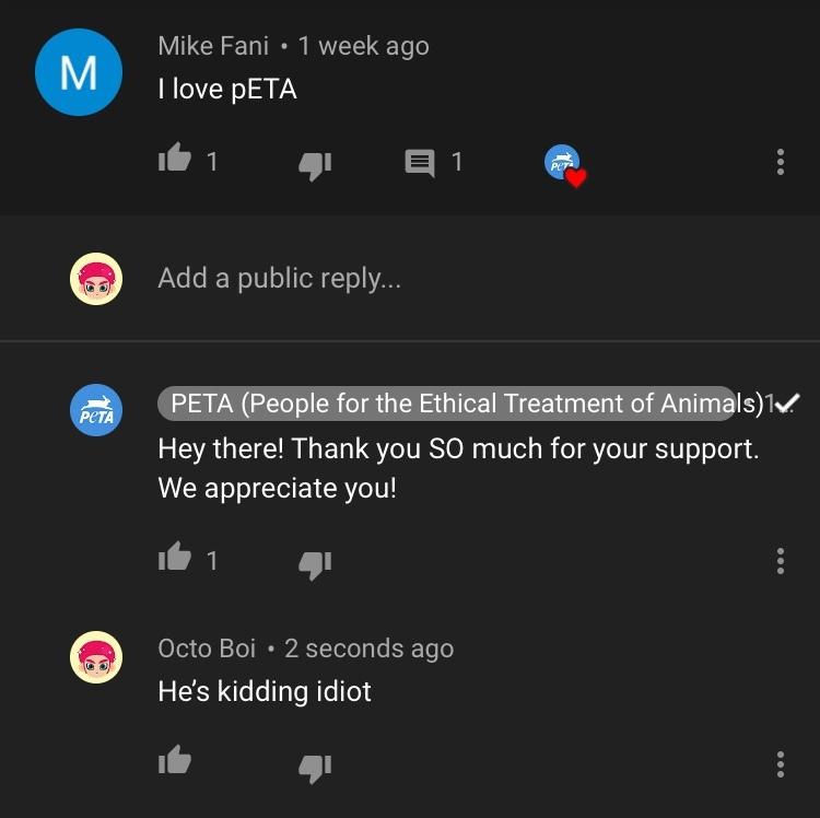 peta = idiots - meme