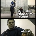 Blank card is superior
