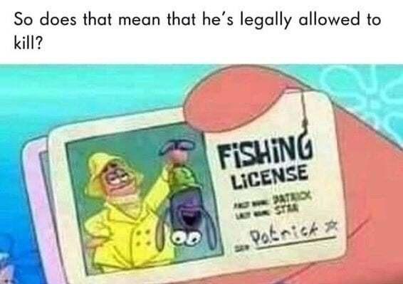 Patrick no - meme