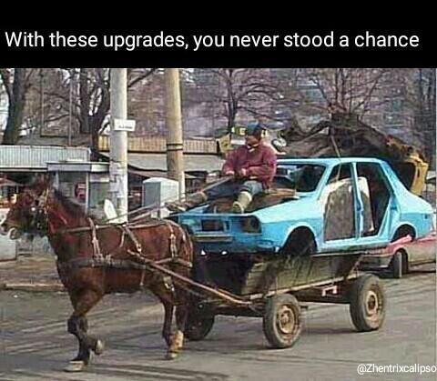 Thats a lot of horsepower - meme