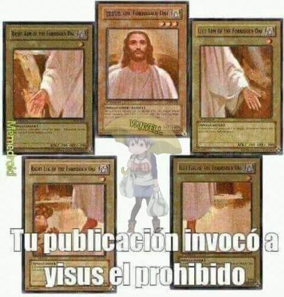 la publicación de abajo invoco a jesus - meme