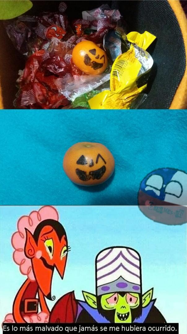 Es una mandarina D: - meme