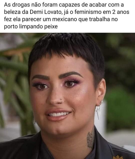 A Demi Lovato não desistiu pois existia uma heroína dentro dela - meme