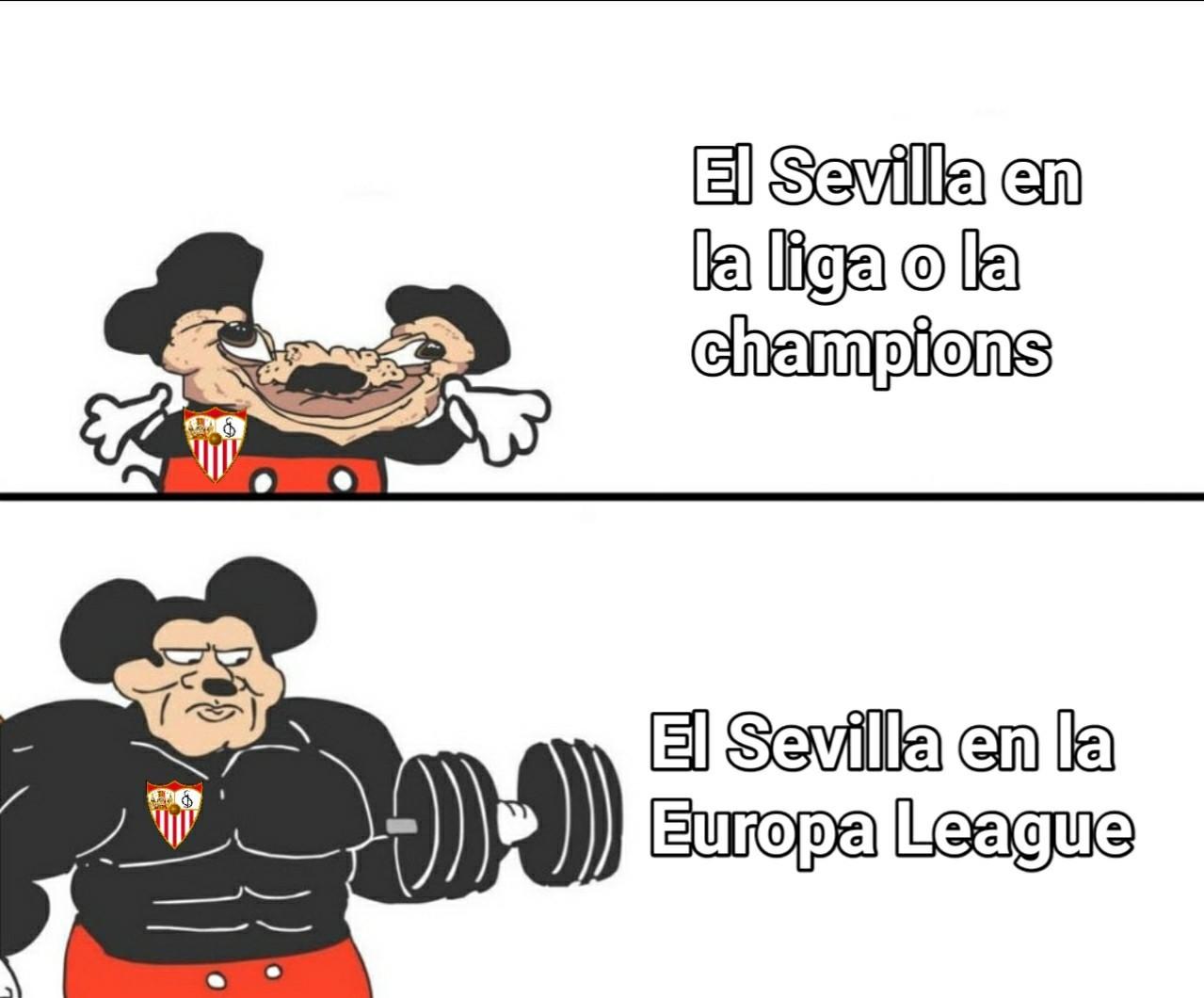 Por más que hayan ganado esta Europa League lo más probable es que pierdan fácilmente en la champions - meme