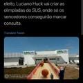 Luciano Hulk sempre onesto