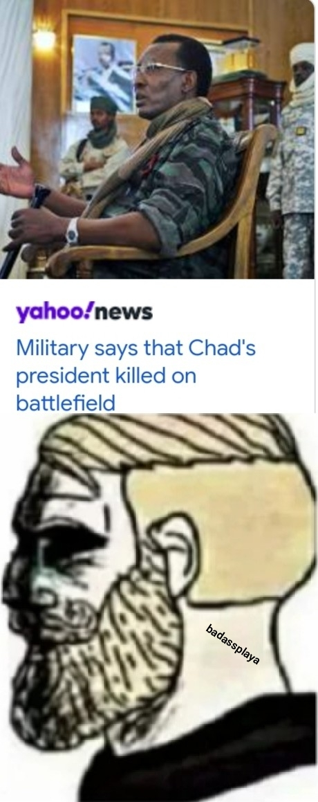 F in the chat for Chad - meme