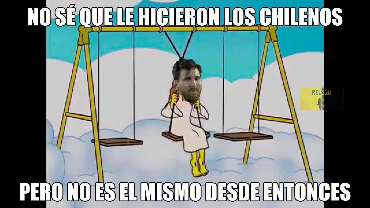 que le hicieron al Messi :,v - meme